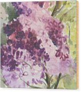 Lilacs - Note Card Wood Print