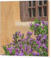 Lilacs And Adobe Wood Print