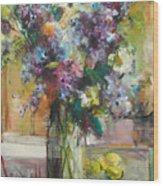 Lilacs And Lemons Wood Print