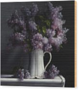 Lilacs/haviland Water Pitcher Wood Print
