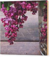 Lilacs In A Vase Wood Print