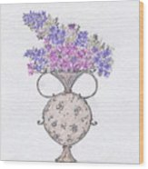 Lilacs In An Urn Wood Print by Christine Corretti