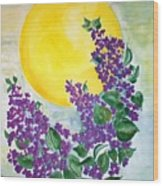 Lilacs In The Midnight Sun Wood Print