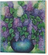 Lilacs No 1. Wood Print