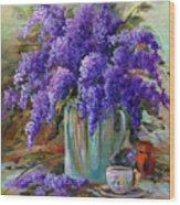 Lilacs Still Life Wood Print