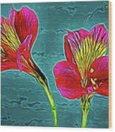 Lilies 18-10 Wood Print