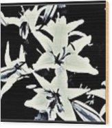 Lilies All Aglow Wood Print