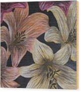 Lilies Wood Print