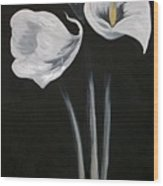 Lilies Ffor Brandy Wood Print