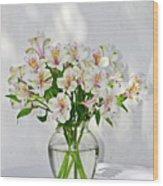 Lilies In A Vase 001 Wood Print