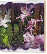 Lilies In Bloom Wood Print