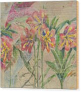 Lilies In Disguise Wood Print