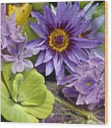 Lilies No. 38 Wood Print by Anne Klar