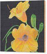 Lilies Of September Wood Print