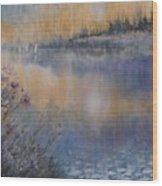 Lilies' Violet, Original Watercolor Wood Print