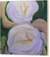 Lilies With Chiffon Wood Print