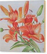 Lilies.2007 Wood Print