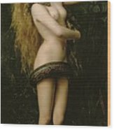 Lilith Wood Print by John Collier