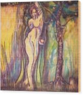 Lilith Satan Adam And The Fruit Wood Print