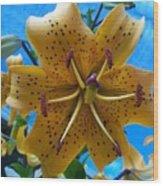 Lilium Yellow Wood Print