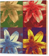 Lillies Of Four Wood Print