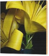 Lilliums By Two Wood Print