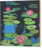 Lilly Pond Wood Print