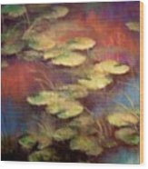 Lilly Pond In Autum  Wood Print