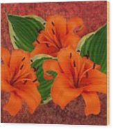 Lily 3 Wood Print
