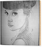 Lily Allen Wood Print