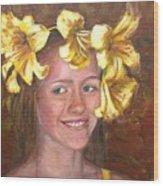 Lily Girl Wood Print