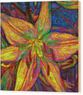 Lily In Abstract Wood Print