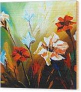 Lily In Bloom Wood Print
