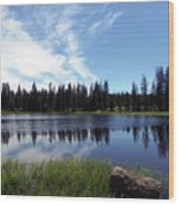 Lily Lake Wood Print