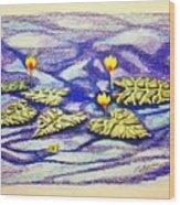Lily Pad Pond Wood Print