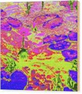 Lily Pads And Koi 18 Wood Print