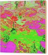Lily Pads And Koi 19 Wood Print