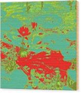 Lily Pads And Koi 33 Wood Print