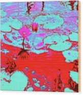 Lily Pads And Koi 7 Wood Print