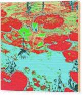 Lily Pads And Koi 8 Wood Print