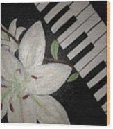 Lily's Piano Wood Print