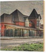 Lima Ohio Train Station Wood Print by Pamela Baker