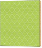 Lime Punch Quatrefoil Wood Print