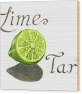 Lime Tart Wood Print