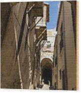 Limestone And Sharp Shadows - Old Town Noto Sicily Italy Wood Print