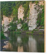 Limestone Bluffs Along Upper Iowa Wood Print