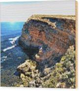 Limestone Cliff Wood Print