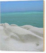 Limestone Cliffs And Sea Wood Print