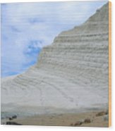 Limestone Cliffs Wood Print