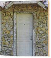 Limestone House Door Wood Print